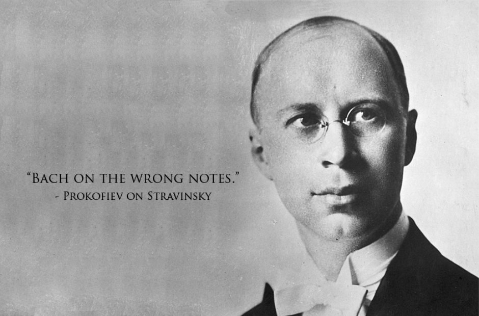 Composer insults Prokofiev