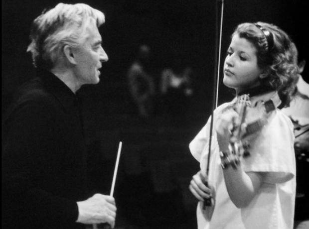 Anne-Sophie Mutter violinist Karajan