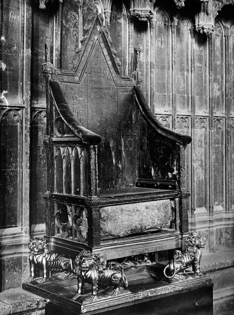 Royal Throne Westminster Abbey Stone Scone Destiny