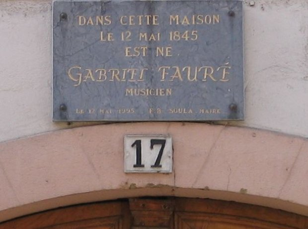 Gabriel Faure birthplace Pamiers France