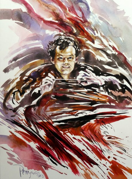 Norman Perryman painting Andris Nelsons