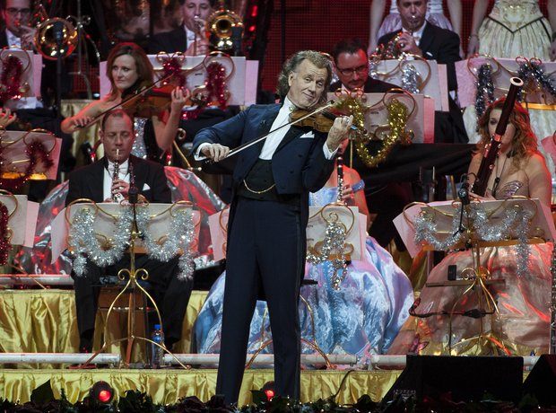 Andre Rieu performs on stage at Wembley Arena
