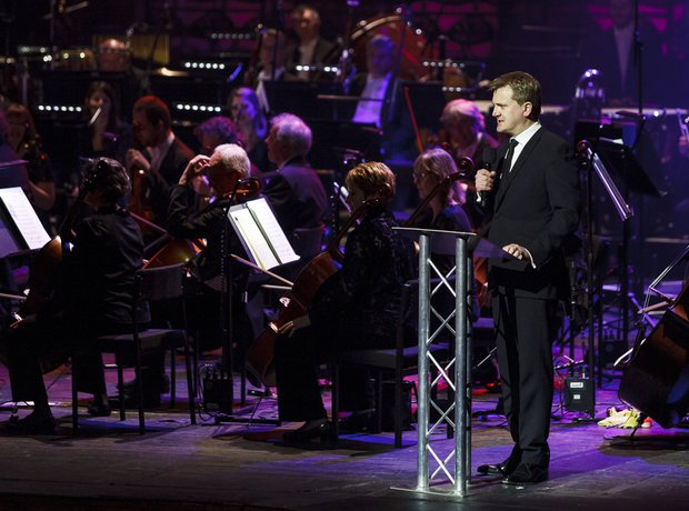 Aled Jones performing at the Classic FM Live 2014