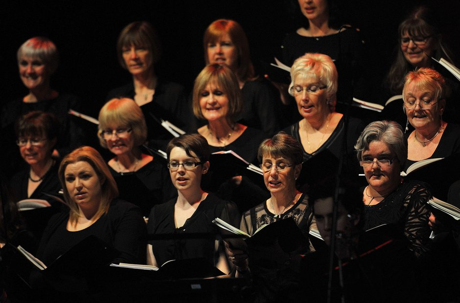 The choir at Classic FM Live Cardiff 2014