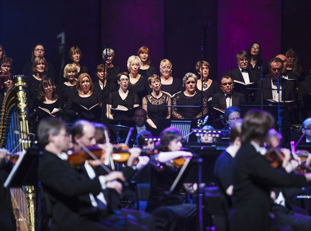 Classic FM live in Cardiff during reheasals 2014