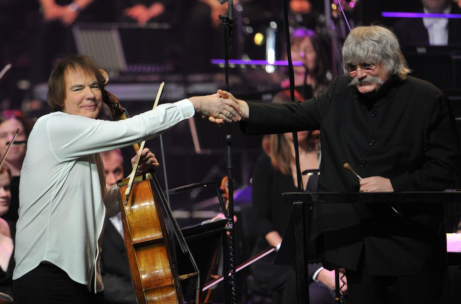 Julian Lloyd Webber and Karl Jenkins at Classic FM