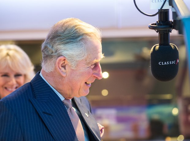 Prince Charles in the Classic FM Studio