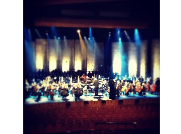Rehearsals in the Wales Millennium Centre