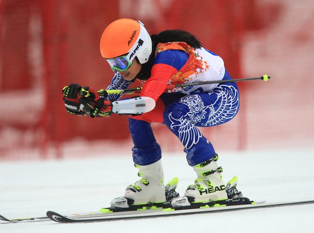 vanessa mae in the giant slalom winter olympics