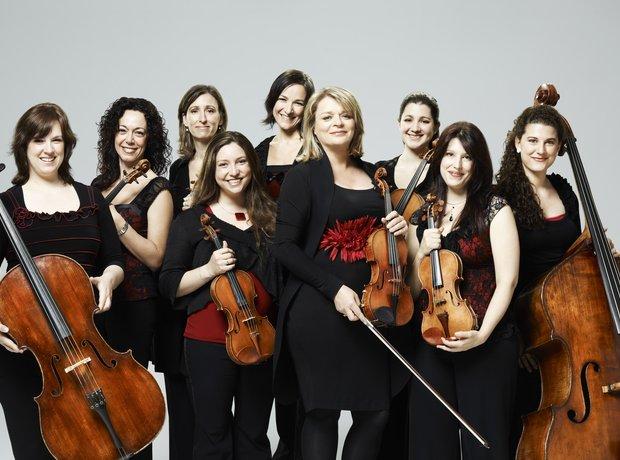 Angele Dubeau violinist La Pieta women string ensemble