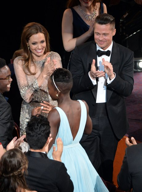 Angelina Jolie, Brad Pitt and Lupita Nyong'o