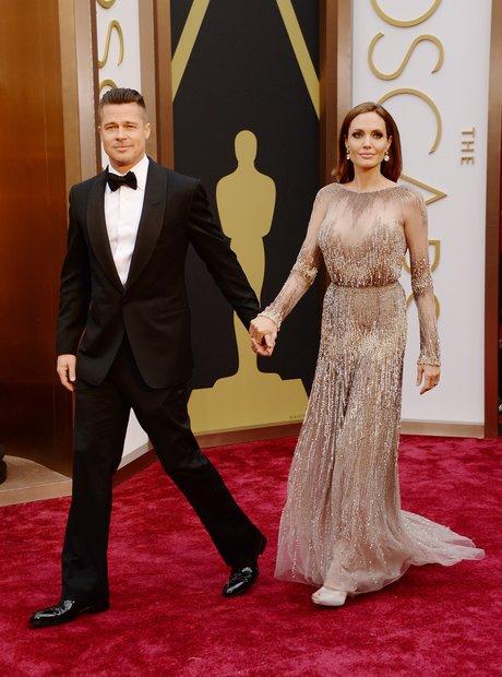 Brad Pitt and Angelina Jolie at the Oscars 2014