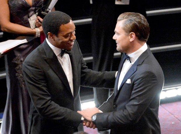 Chiwetel Ejiofor and Leonardo DiCaprio