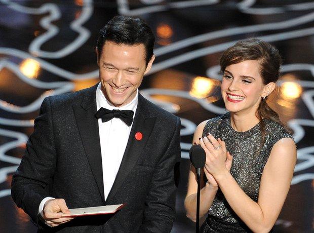 Joseph Gordon-Levitt and Emma Watson Oscars 2014