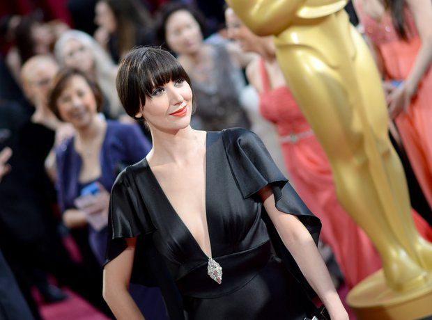 Karen O at the Oscars 2014 red carpet
