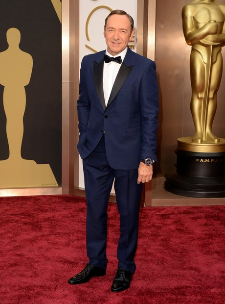 Kevin Spacey at the Oscars 2014 red carpet