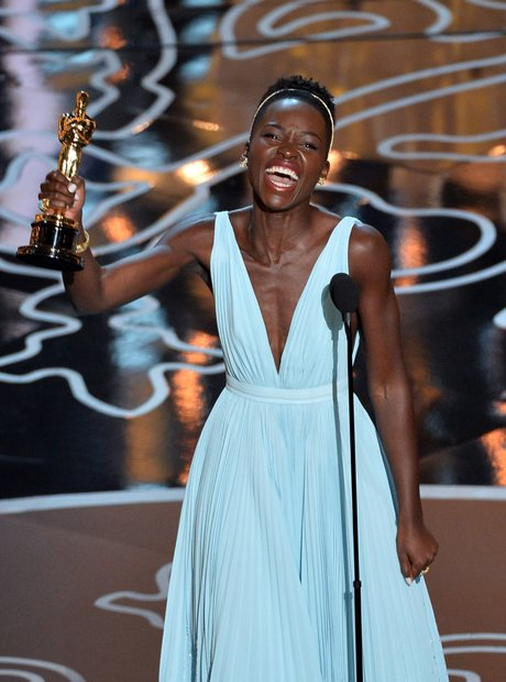 Lupita Nyong'o at the Oscars 2014 winner