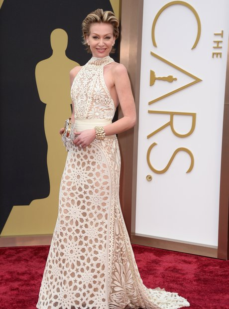 Portia de Rossi at the Oscars 2014 red carpet