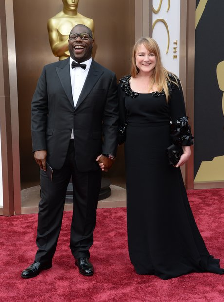 Steve McQueen at the Oscars 2014 red carpet