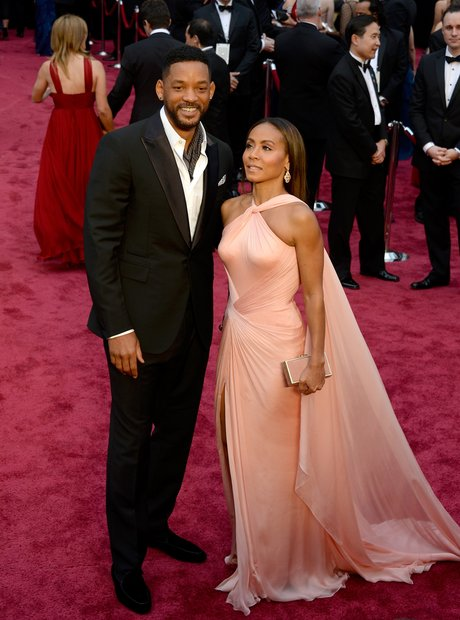 Will and Jada Pinkett Smith at the Oscars 2014 red