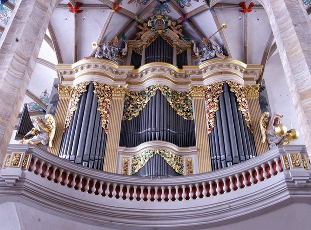 Frieberg organ cathedral Germany Silbermann Mozart