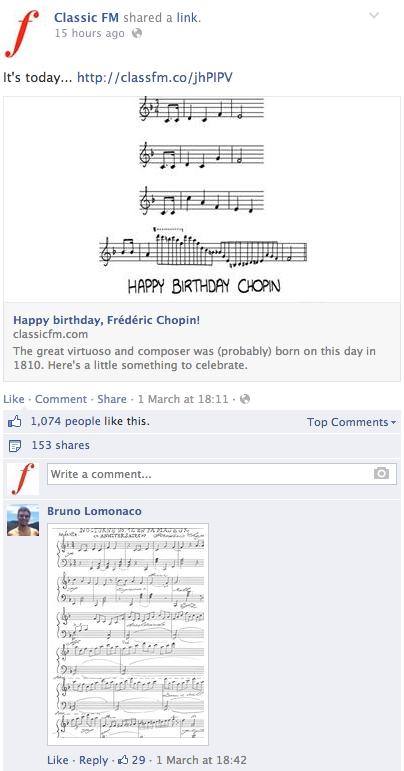 Classic FM Facebook