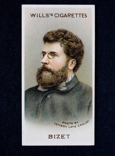 Georges Bizet composer Carmen cigarette card
