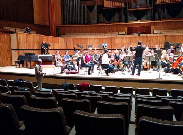 Neville Marriner 90th birthday concert Joshua Bell Academy Martin Fields