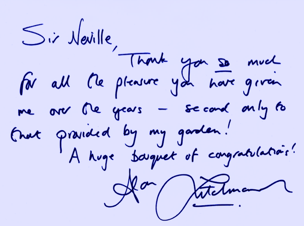 Neville Marriner Birthday greetings