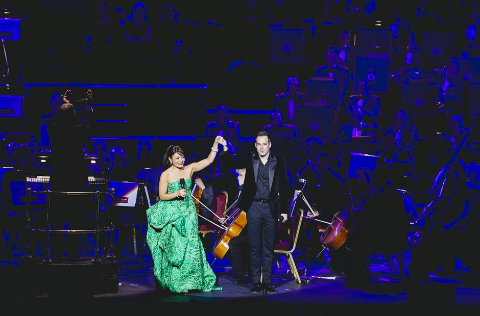 Ailyn Perez and Stephen Costelo at Classic FM Live
