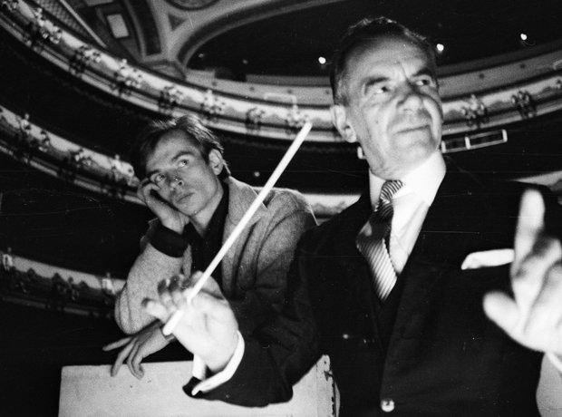 Sir Malcolm Sargent conductor Rudolf Nureyev