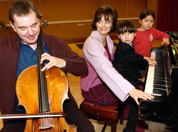 Julian Lloyd Webber cellist Cherie Blair