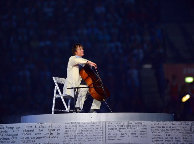 Julian Lloyd Webber cellist London 2012 Olympics