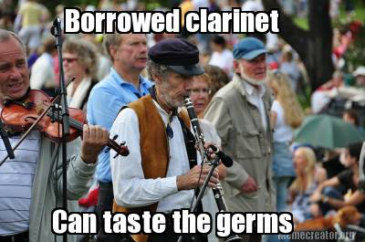 borrowed clarinet