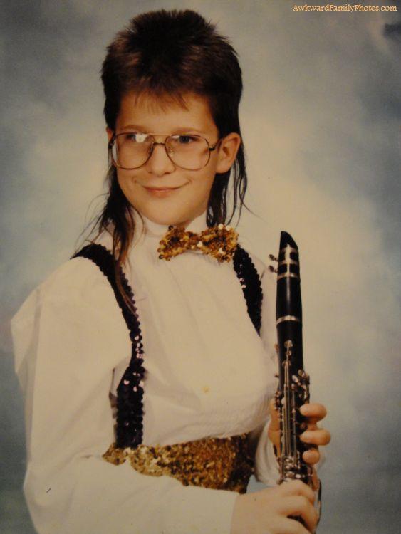 clarinet mullet kid