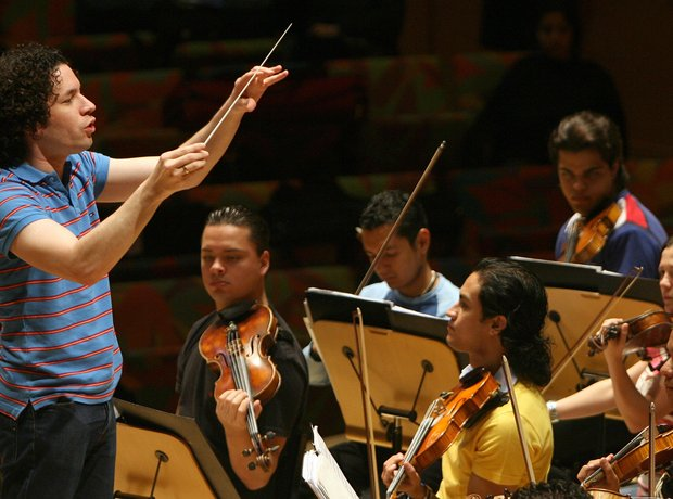 Gustavo Dudamel conductor Simon Bolivar Youth Orchestra