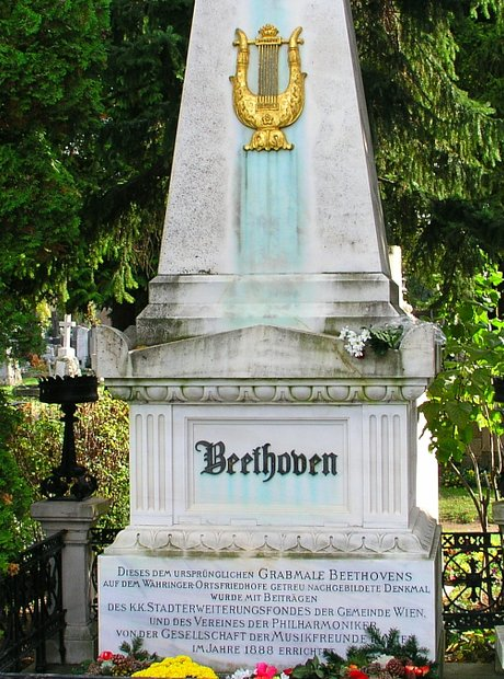 Beethoven grave tomb Vienna