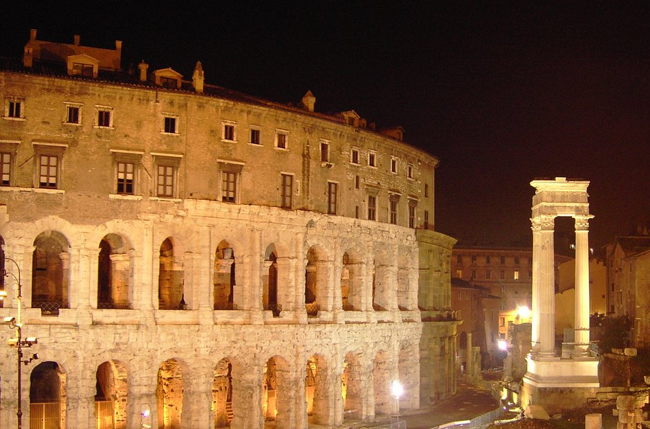 Rome city musical venues Notte Romano Theatre of Marcellus