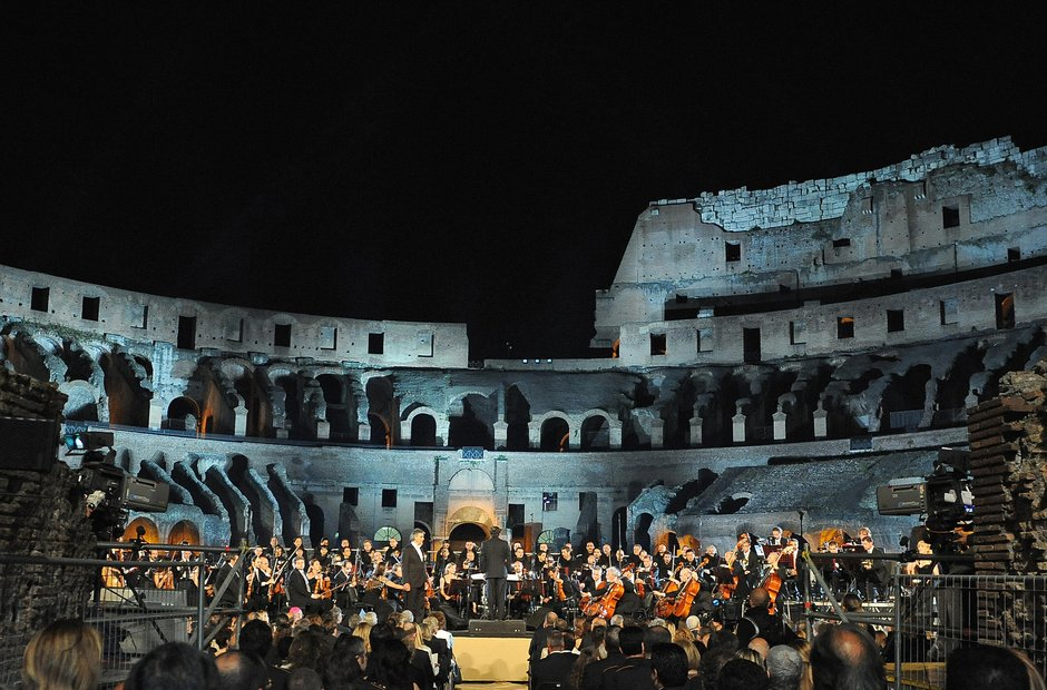 Rome city musical venues Collosseum