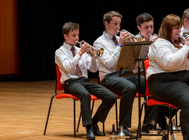 Treorchy Comprehensive School Brass Band