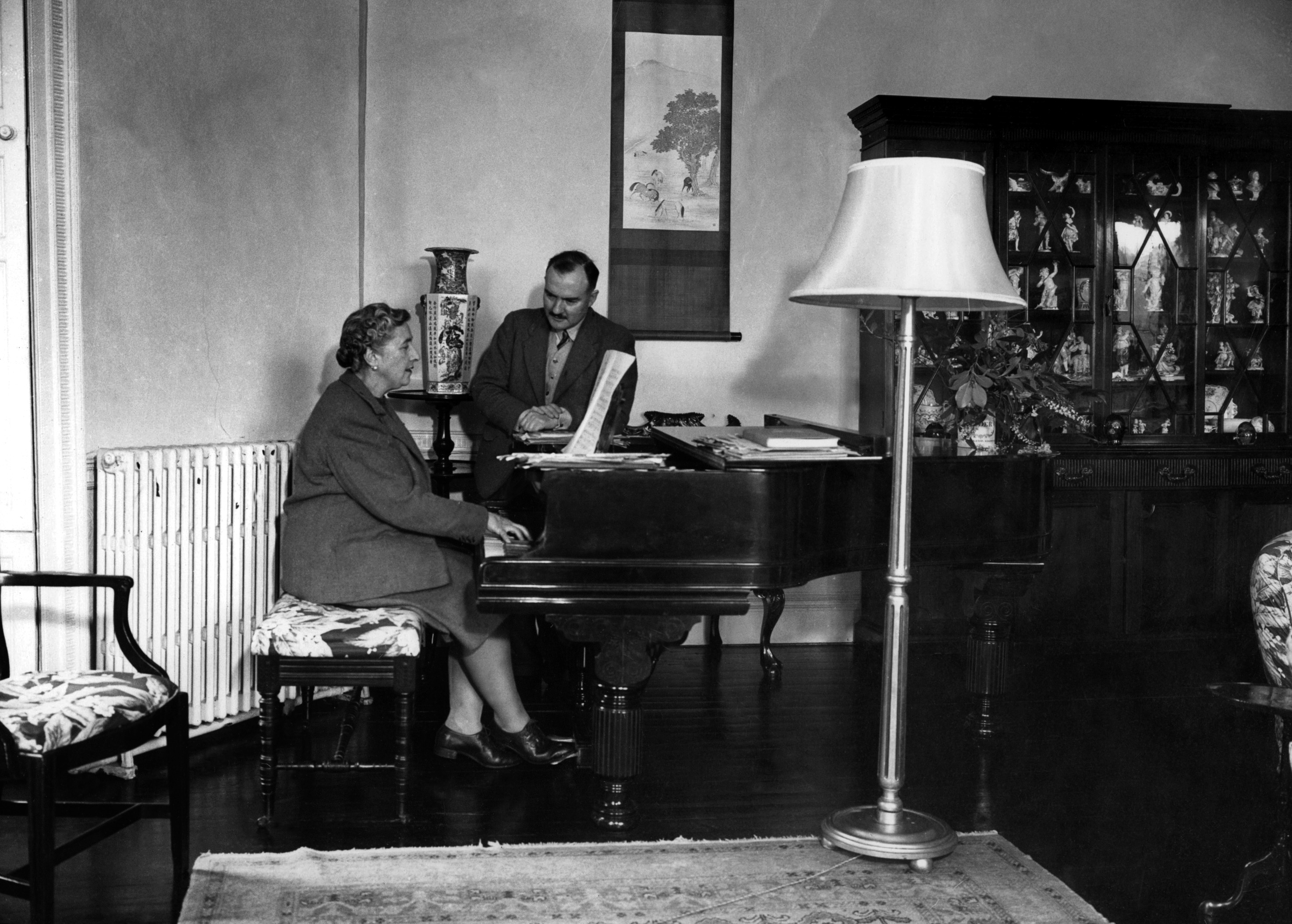 Dame Agatha Christie piano Crime writer novelist