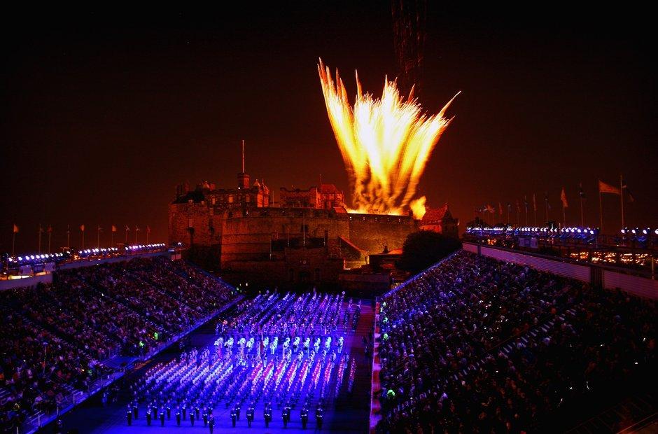 Edinburgh venues Scotland Festival Castle Tattoo fireworks