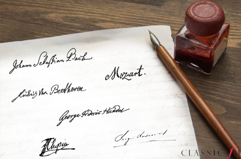 What Did The Great Composers Handwriting Look Like