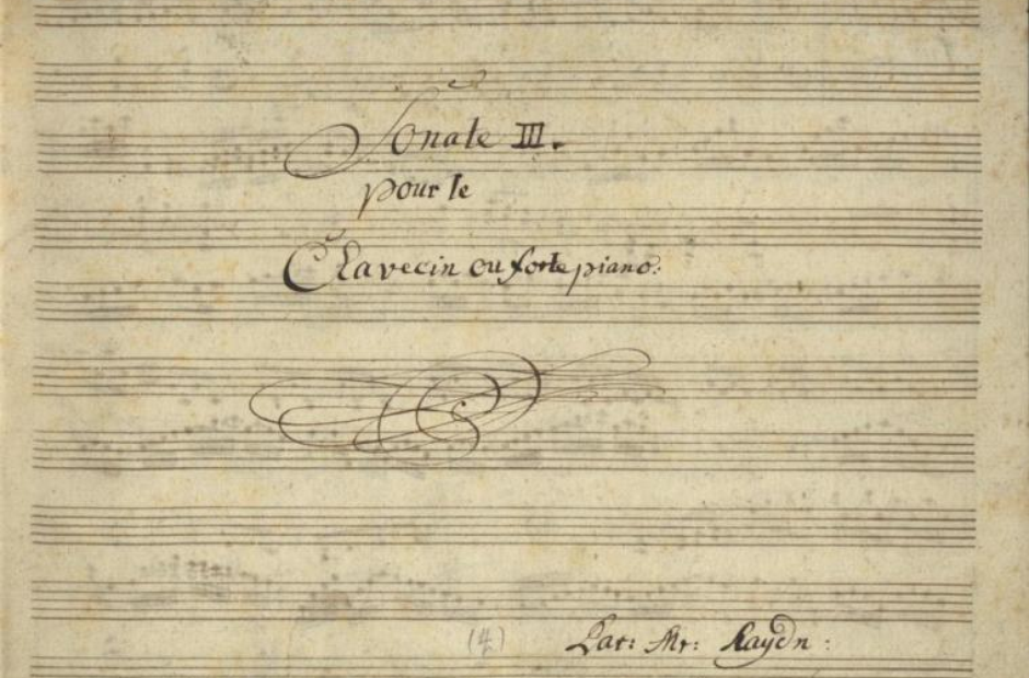 Composer handwriting manuscripts