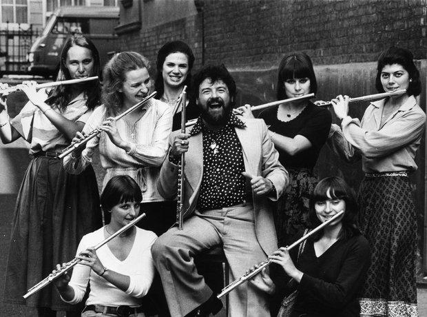 James Galway flautist masterclass Wigmore flute