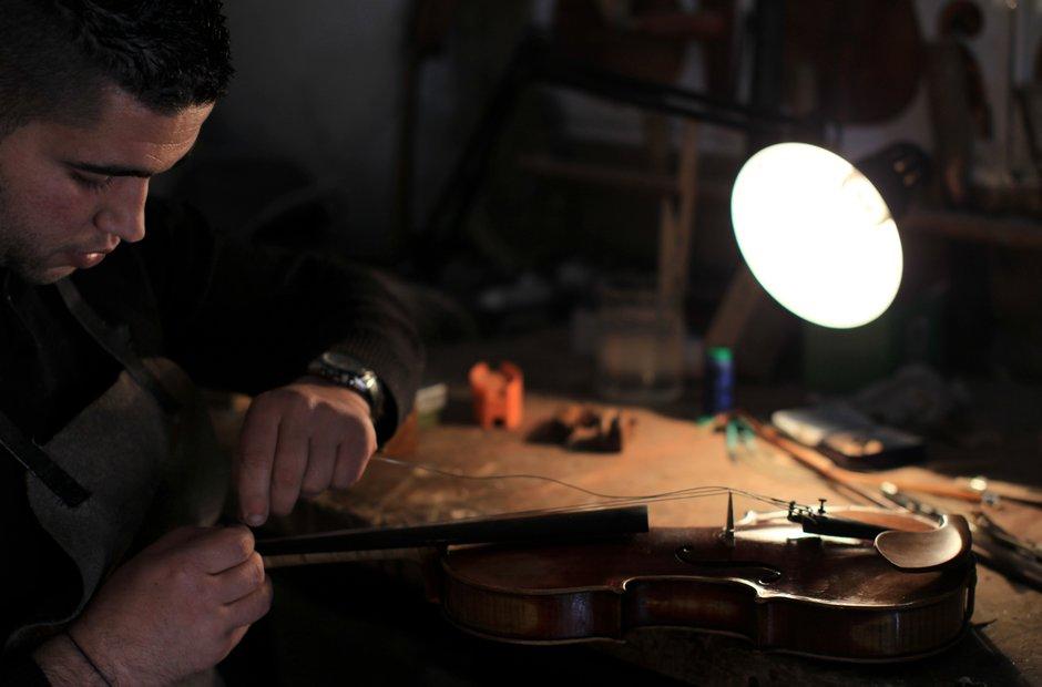 Violin Making - Shehada Shalalda - ramallah