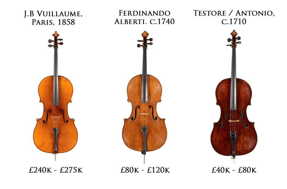 3 priceless cellos yours for these beautiful antique string classic fm. Black Bedroom Furniture Sets. Home Design Ideas