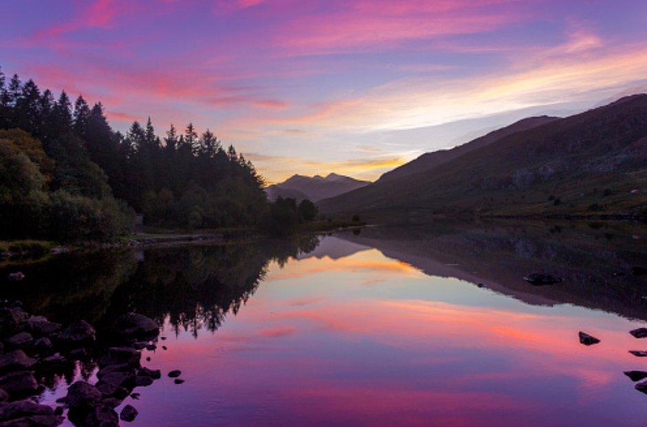 Wales Llynnau Mymbyr Capel Curiag