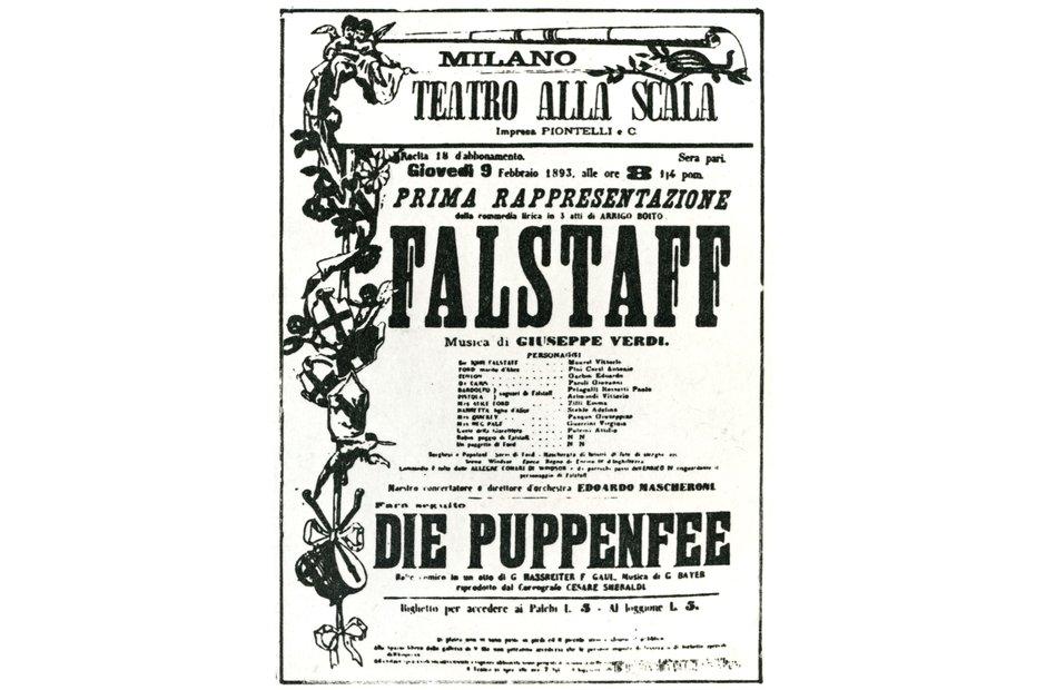 Vintage opera poster
