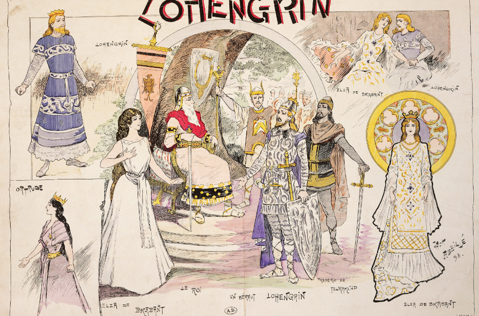 Vintage opera poster Lohengrin
